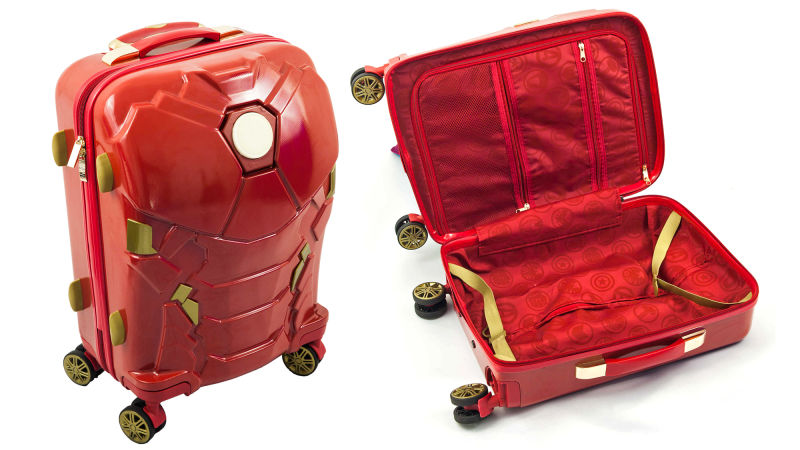 Marvel Iron Man Light Up Spinner Suitcase Buyandship
