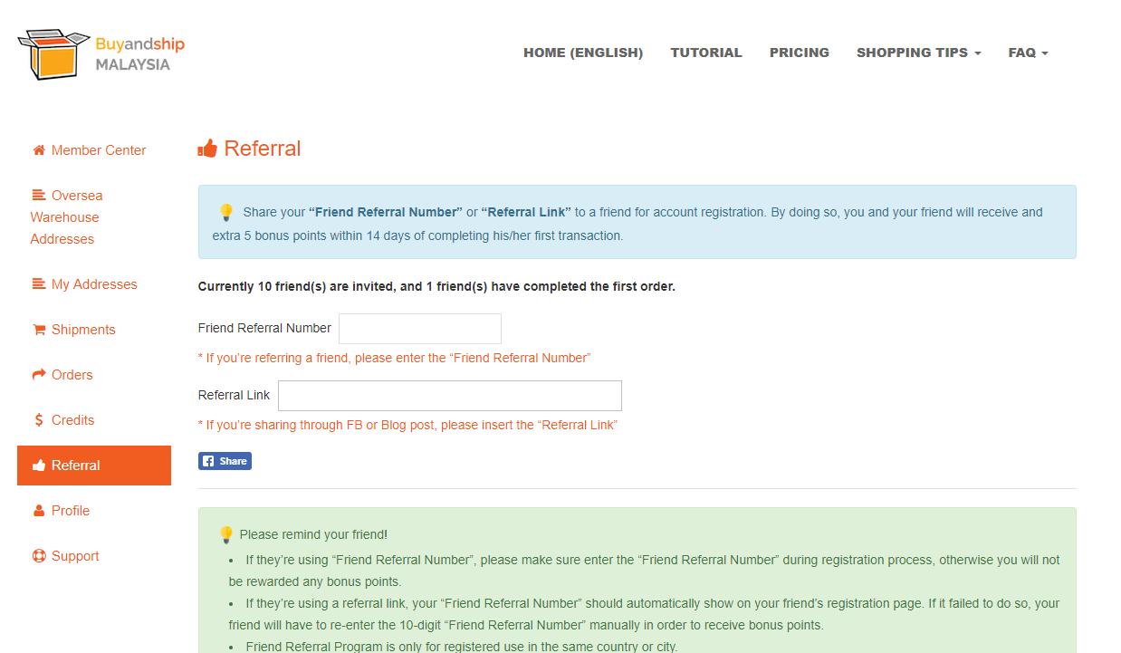 Friend Referral Reward Points – Get RM5 Each! | Buyandship