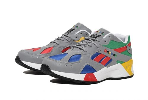 """7cffc91234e The Reebok Aztrek """"Grey Cobalt Big Green"""" colorway is available for  pre-order now for ¥11"""