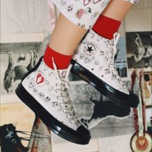 dba52896d38 London-based label Shrimps is joining hand with Converse to release a  quirky collection featuring two classic Converse silhouettes – the Chuck 70  and the ...