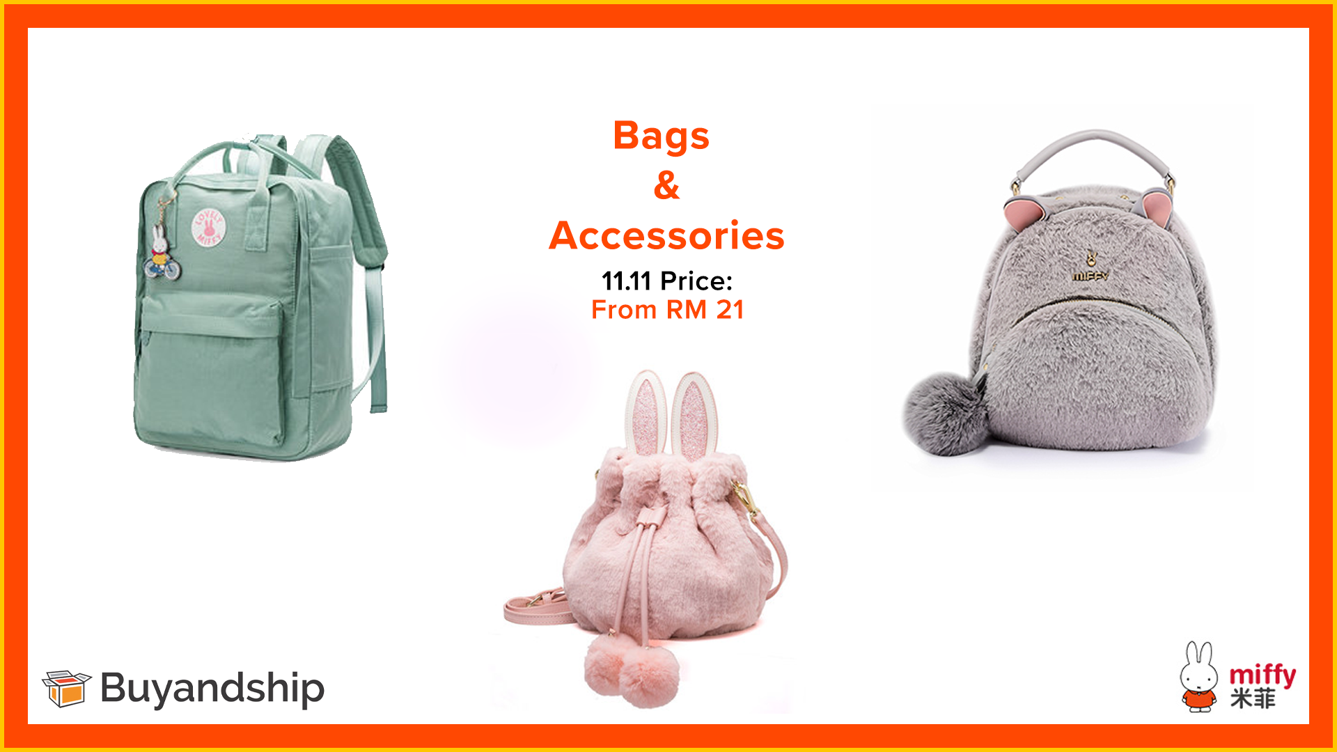 11.11 Sale 2019 -Miffy Luggage Store