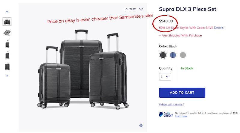 samsonite ebay