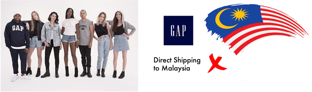 shop gap ship to Malaysia