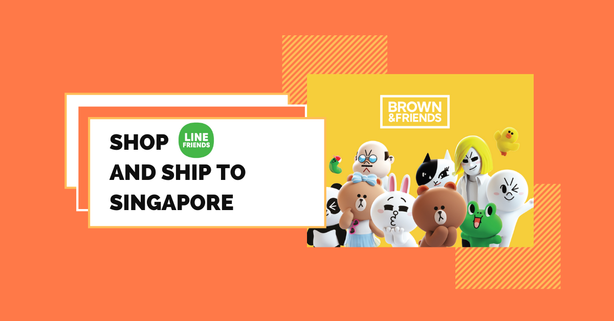shop LINE FRIENDS ship to Singapore